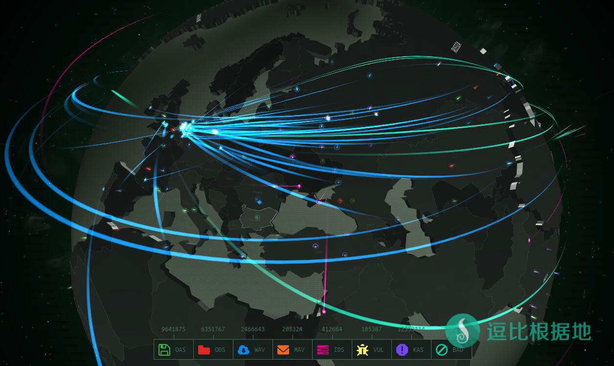卡巴斯基全球网络攻击实时图——The Cyberthreat map