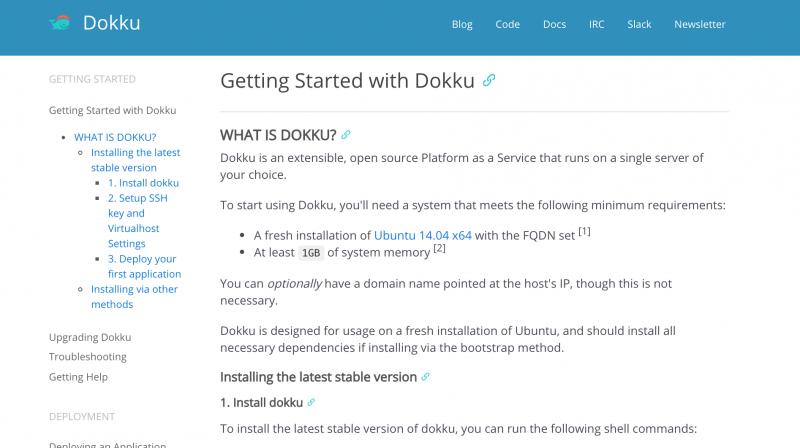 利用Dokku搭建自己的PaaS云服务器