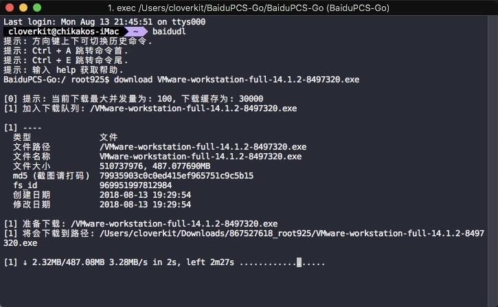 使用 BaiduPCS-Go 破解百度云下载限速